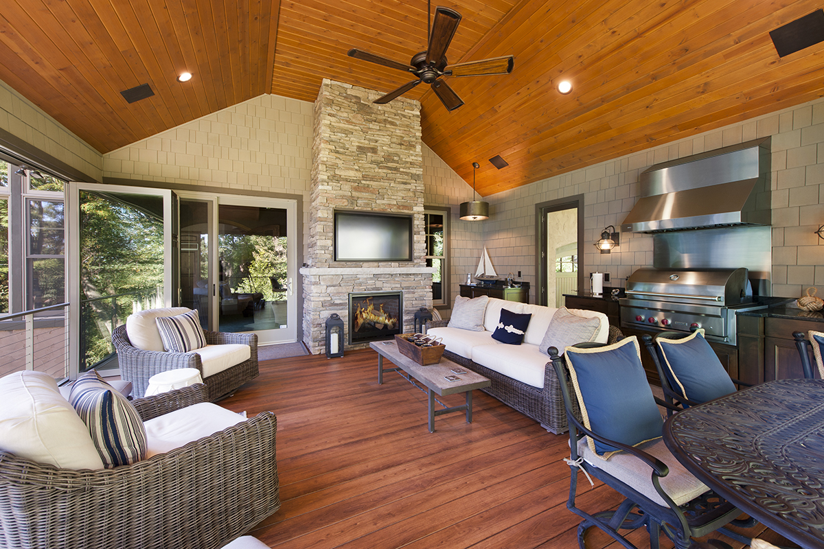 Four season convertible addition blending indoor and outdoor living