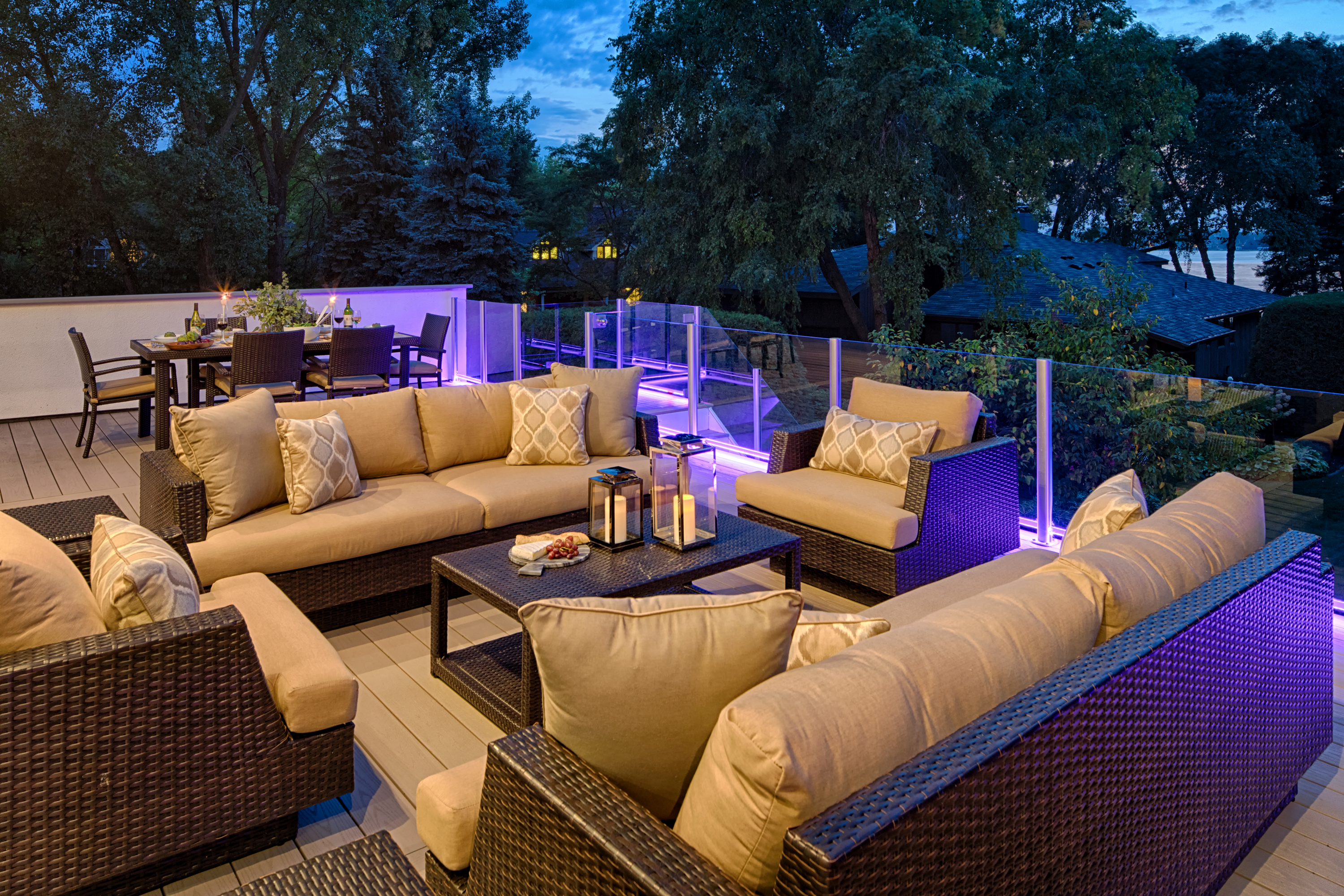 Illuminated Deck Living